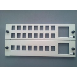 EURO-EASY-PANEL 8PORTS/1SCHUKO(C/C)