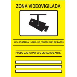 CARTEL CCTV HOMOLOGADO PVC 148X210 ATA-L3